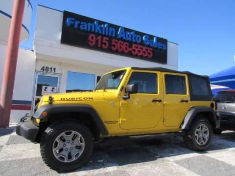 2015 Jeep Wrangler Unlimited for sale at Franklin Auto Sales in El Paso TX
