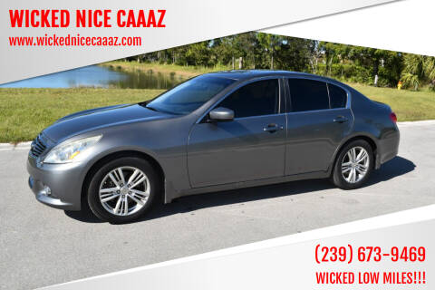 2013 Infiniti G37 Sedan for sale at WICKED NICE CAAAZ in Cape Coral FL
