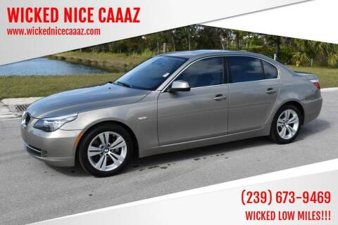 2010 BMW 5 Series for sale at WICKED NICE CAAAZ in Cape Coral FL
