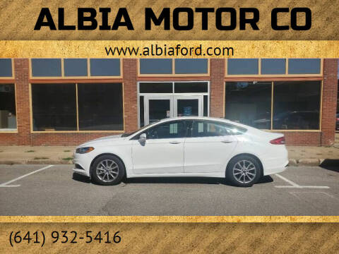 2017 Ford Fusion for sale at Albia Motor Co in Albia IA