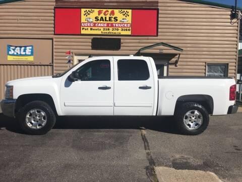 2012 Chevrolet Silverado 1500 for sale at FCA Sales in Motley MN