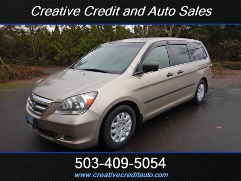 2007 Honda Odyssey for sale at Creative Credit & Auto Sales in Salem OR
