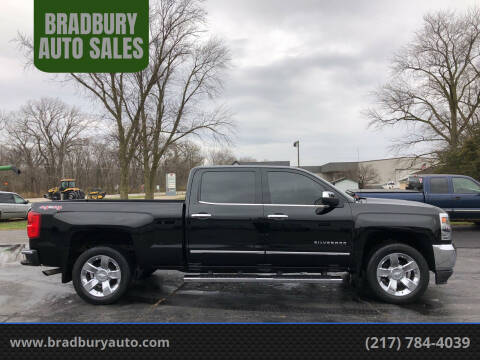 2017 Chevrolet Silverado 1500 for sale at BRADBURY AUTO SALES in Gibson City IL