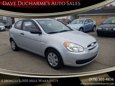 2008 Hyundai Accent for sale at Dave Ducharme's Auto Sales in Lowell MA