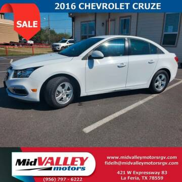 2016 Chevrolet Cruze Limited for sale at Mid Valley Motors in La Feria TX