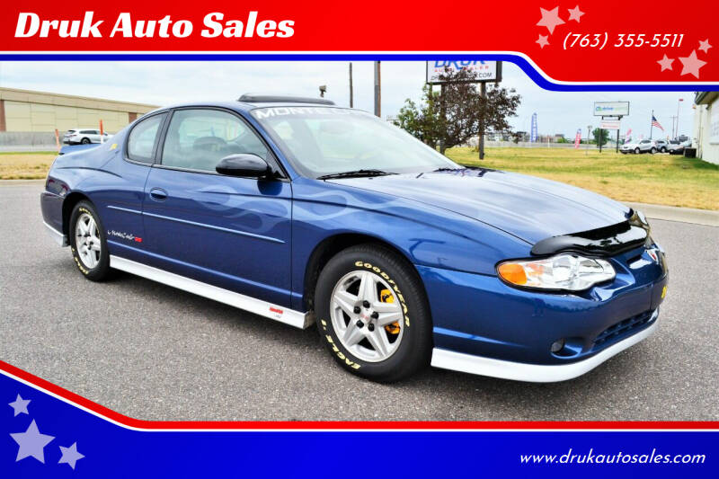 2003 Chevrolet Monte Carlo for sale at Druk Auto Sales in Ramsey MN