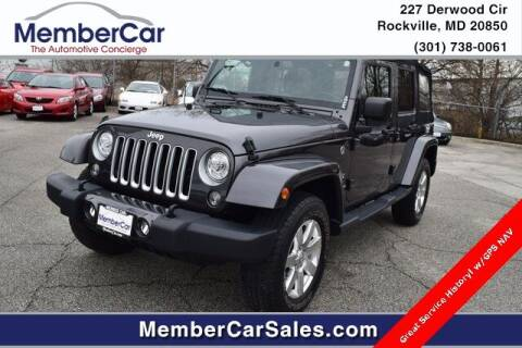 2018 Jeep Wrangler JK Unlimited for sale at MemberCar in Rockville MD