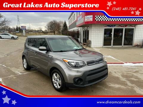 2017 Kia Soul for sale at Great Lakes Auto Superstore in Pontiac MI