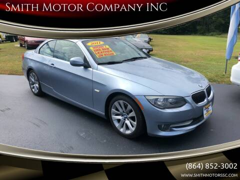 2011 BMW 3 Series for sale at Smith Motor Company INC in Mc Cormick SC