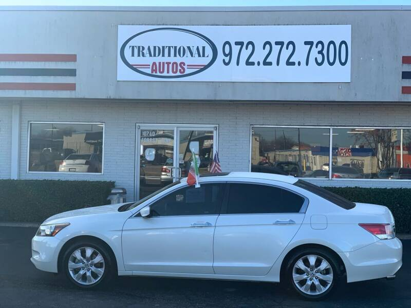 2008 Honda Accord for sale at Traditional Autos in Dallas TX