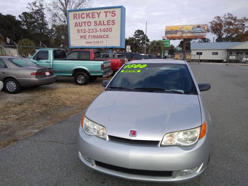 2003 Saturn Ion for sale at Rickey T's Auto Sales in Garden City GA