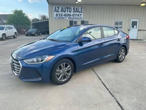 2017 Hyundai Elantra for sale at AZ Auto Sale in Houston TX