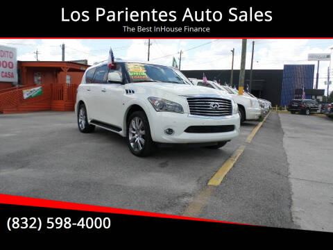 2014 Infiniti QX80 for sale at Los Parientes Auto Sales in Houston TX