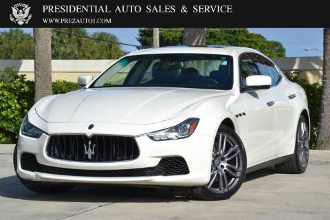 2016 Maserati Ghibli for sale at Presidential Auto  Sales & Service in Delray Beach FL