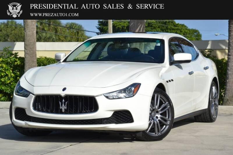 2016 Maserati Ghibli for sale at Presidential Auto  Sales & Service in Delray Beach FL