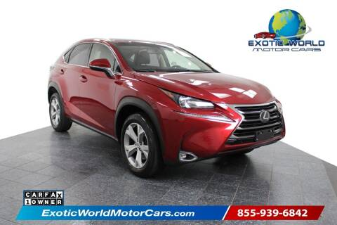 2017 Lexus NX 200t for sale at Exotic World Motor Cars in Addison TX