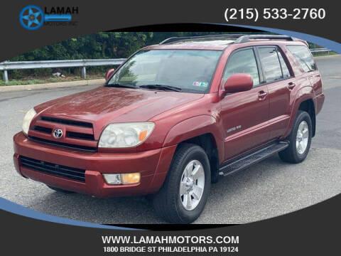 2005 Toyota 4Runner for sale at LAMAH MOTORS INC in Philadelphia PA