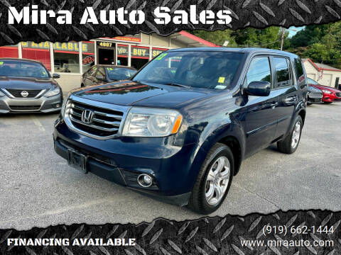 2012 Honda Pilot for sale at Mira Auto Sales in Raleigh NC