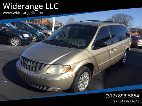 2002 Chrysler Town and Country for sale at Widerange LLC in Greenwood IN
