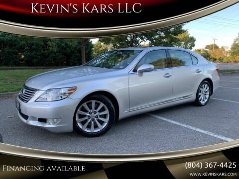 2012 Lexus LS 460 for sale at Kevin's Kars LLC in Richmond VA