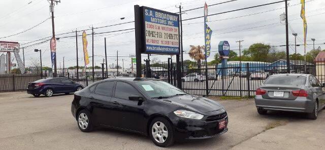 2015 Dodge Dart for sale at S.A. BROADWAY MOTORS INC in San Antonio TX