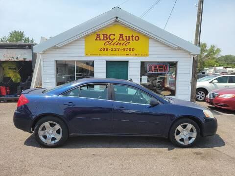 2009 Pontiac G6 for sale at ABC AUTO CLINIC - Chubbuck in Chubbuck ID
