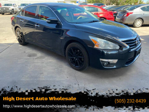 2013 Nissan Altima for sale at High Desert Auto Wholesale in Albuquerque NM