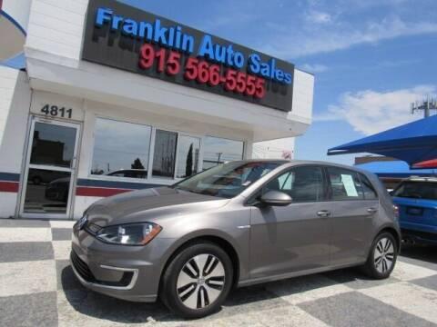 2016 Volkswagen e-Golf for sale at Franklin Auto Sales in El Paso TX
