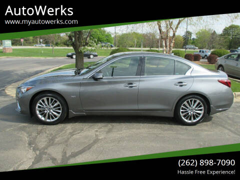 2018 Infiniti Q50 for sale at AutoWerks in Sturtevant WI