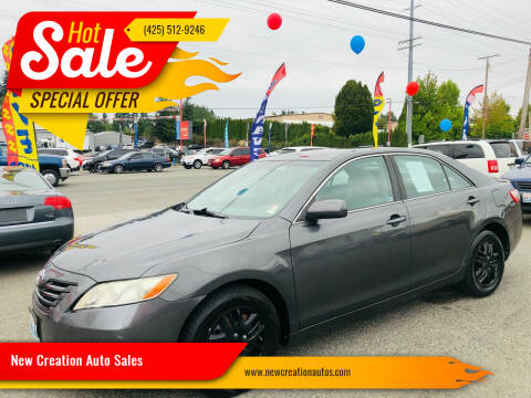 2008 Toyota Camry for sale at New Creation Auto Sales in Everett WA