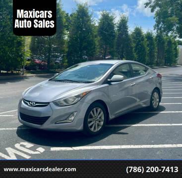 2015 Hyundai Elantra for sale at Maxicars Auto Sales in West Park FL