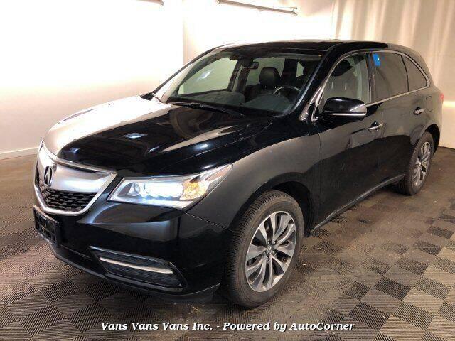 2016 Acura MDX for sale at Vans Vans Vans INC in Blauvelt NY