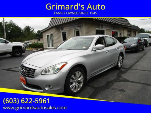2011 Infiniti M37 for sale at Grimard's Auto in Hooksett NH