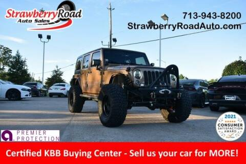 2015 Jeep Wrangler Unlimited for sale at Strawberry Road Auto Sales in Pasadena TX
