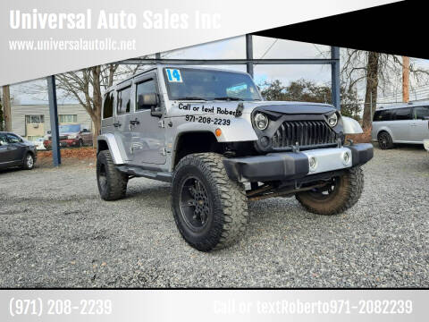 2014 Jeep Wrangler Unlimited for sale at Universal Auto Sales Inc in Salem OR