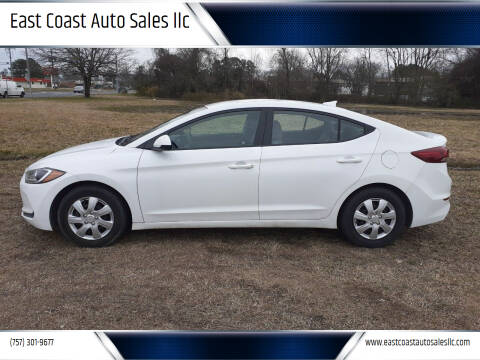 2017 Hyundai Elantra for sale at East Coast Auto Sales llc in Virginia Beach VA