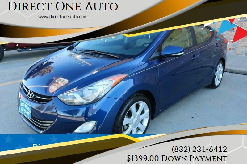 2013 Hyundai Elantra for sale at Direct One Auto in Houston TX