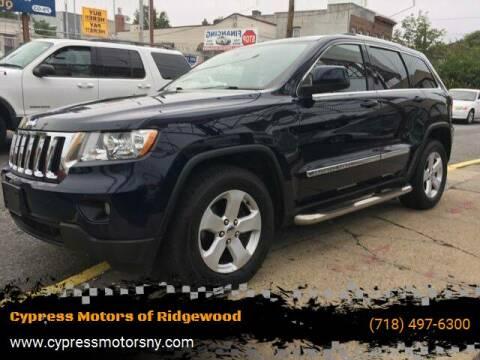 2012 Jeep Grand Cherokee for sale at Cypress Motors of Ridgewood in Ridgewood NY