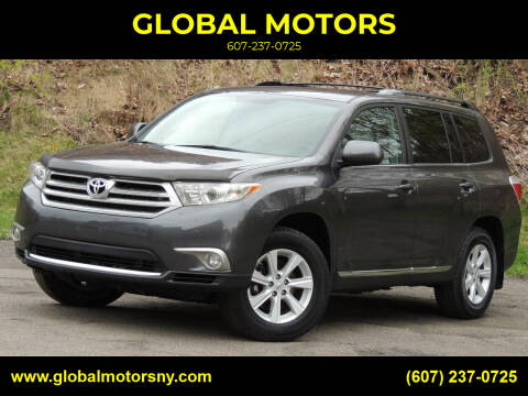 2013 Toyota Highlander for sale at GLOBAL MOTORS in Binghamton NY