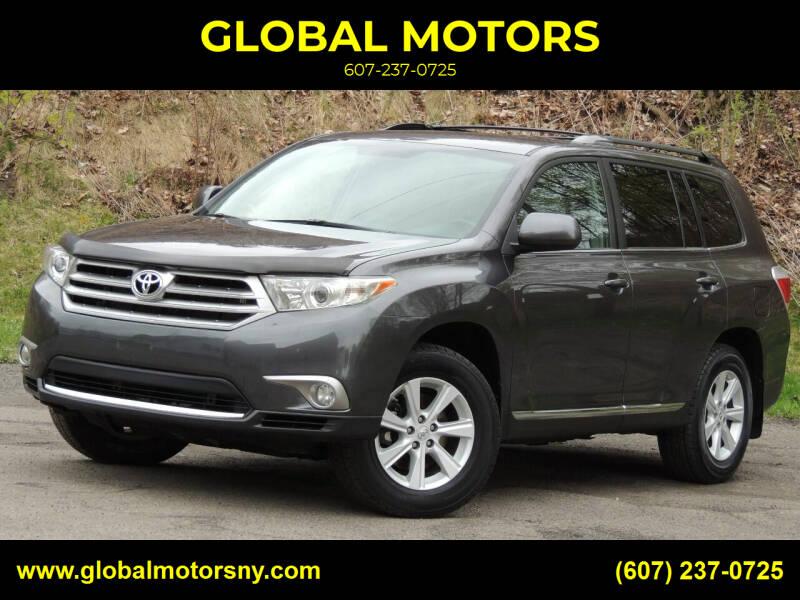 2013 Toyota Highlander for sale at GLOBAL MOTORS in Binghamton NY