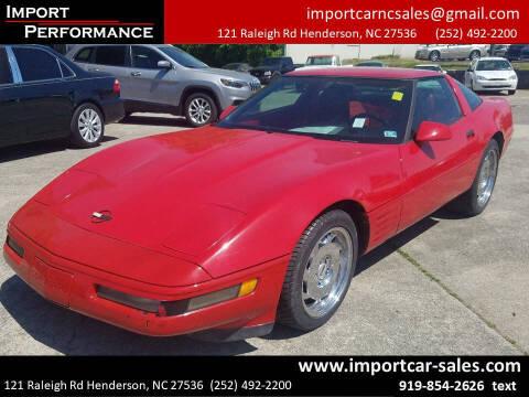 1992 Chevrolet Corvette for sale at Import Performance Sales - Henderson in Henderson NC