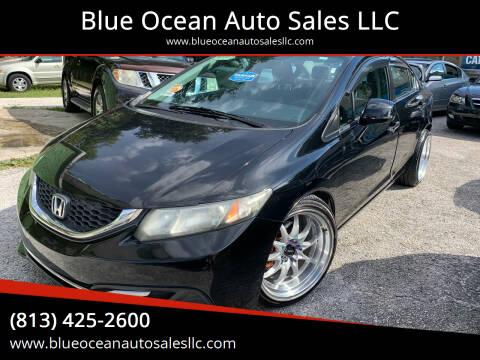 2013 Honda Civic for sale at Blue Ocean Auto Sales LLC in Tampa FL