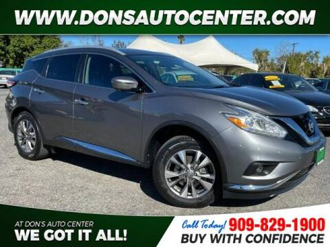 2017 Nissan Murano for sale at Dons Auto Center in Fontana CA