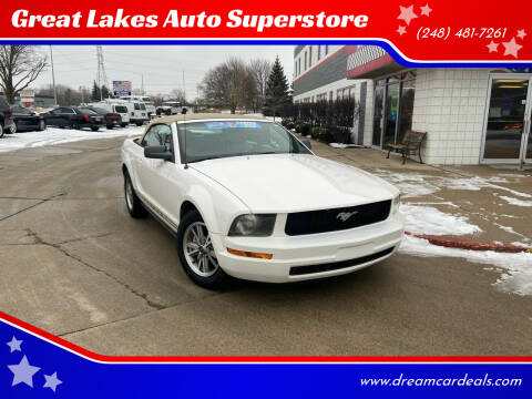 2005 Ford Mustang for sale at Great Lakes Auto Superstore in Pontiac MI