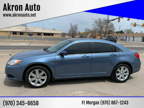 2011 Chrysler 200 for sale at Akron Auto - Fort Morgan in Fort Morgan CO
