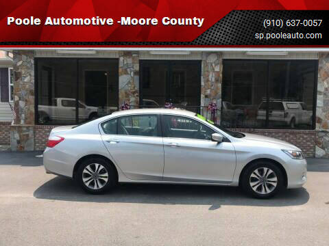 2015 Honda Accord for sale at Poole Automotive -Moore County in Aberdeen NC