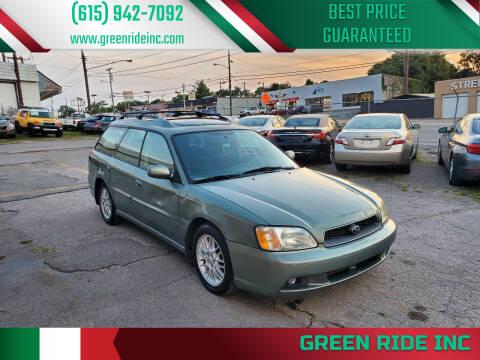 2003 Subaru Legacy for sale at Green Ride Inc in Nashville TN