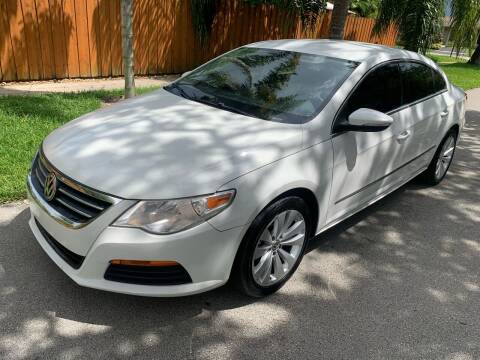 2012 Volkswagen CC for sale at FINANCIAL CLAIMS & SERVICING INC in Hollywood FL