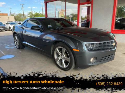 2011 Chevrolet Camaro for sale at High Desert Auto Wholesale in Albuquerque NM