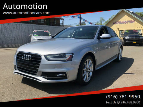 2016 Audi A4 for sale at Automotion in Roseville CA